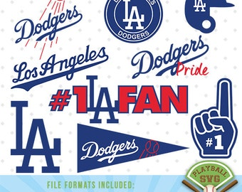 Los Angeles Dodgers SVG files, baseball designs contains dxf, eps, svg, jpg, png and pdf files. PB-012