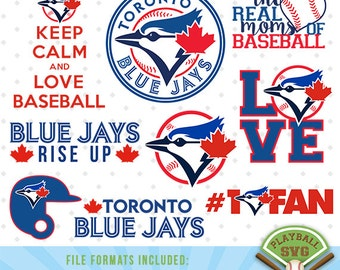Toronto Blue Jays SVG files, baseball designs contains dxf, eps, svg, jpg, png and pdf files. PB-026