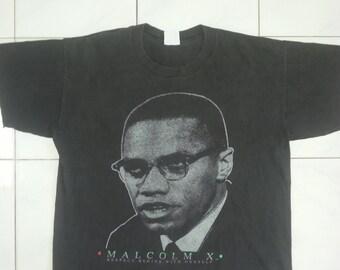 Vintage 90s Malcolm X Tshirt Icon