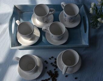 Large Ceramic Mug, Tea Cup, Coffee Mug, Cup And Saucer, Tea Mug With Saucer, Big Mug, Pottery Mug, Stoneware Mug
