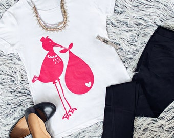 Stork Delivery Maternity Tee (Pink)