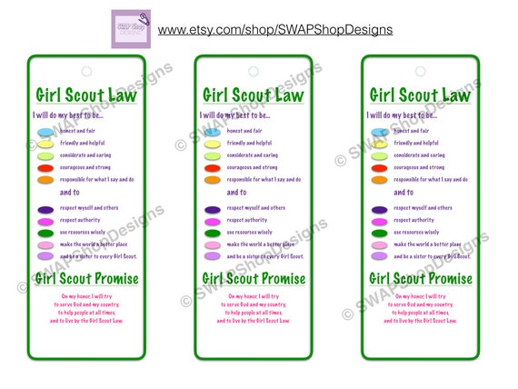 Fan image with regard to girl scout promise and law printable