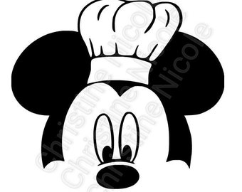 Mickey mouse SVG file chef mickey instant download
