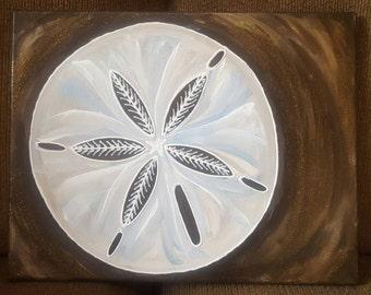 sanddollar on canvas