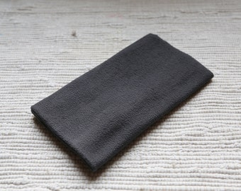 Fleece/pile fabric. 50x50 cm. Thin. Dark grey colour