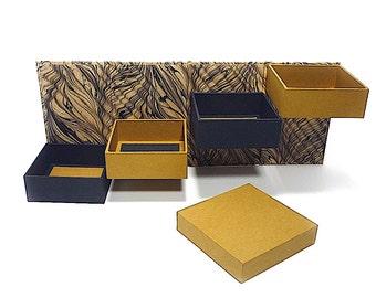 Step Box, Cartonnage, Gift Box, Keepsake Box, Item Storage