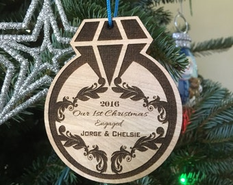 Christmas Ornament Handmade Engaged