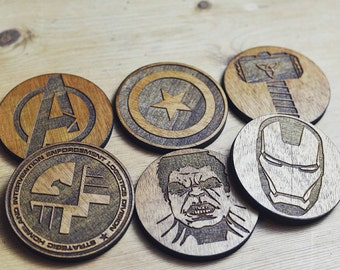 Avengers Wooden Coasters