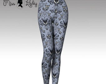 Full Length & Capri Haunted Mansion wallpaper leggings