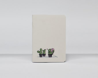 "Notebook A6 lined pages ""Les Cactus"""
