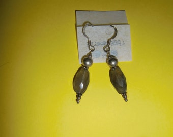 Pendant labradorite earrings