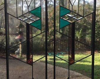 Prairie Style Stained Glass Window Panels: LOCAL PICKUP ONLY!