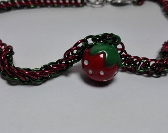 Necklace with Strawberry Bell