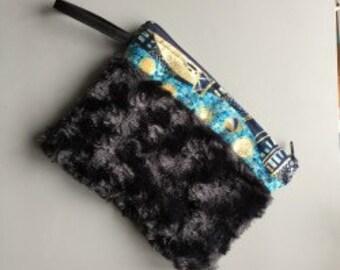 fur jewelry pouch