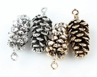Pine Cone Charms, 10PCS, 15*39mm, Vintage Charm , Jewelry Supplies
