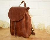 LEATHER BACKPACK - Women Backpack  women's backpack  bags purses backpack   minimalist backpack   backpack school style women's backpack