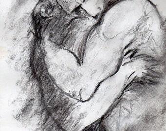 Embrace -male figure
