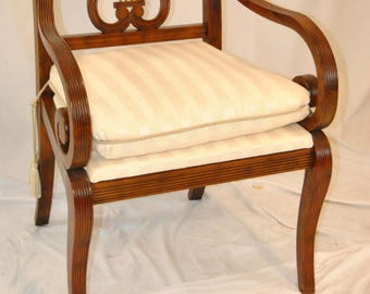 Thomasville 100 Year Collection Mahogany Lyre Back Chair