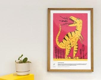 Tyrannosaurus rex - educational poster - dinosaurs