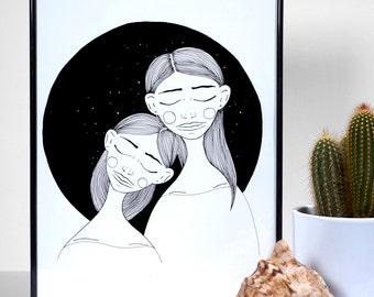 Sisters - art print