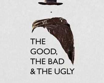 Minimalist movie print - The good, the bad and the ugly