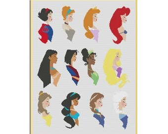 BOGO FREE! Princesses Disney Cross Stitch Pattern,Instant Download,Cross Stitch Chart, Needlecraft Embroidery Needlework PDF, #27