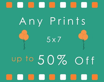 Discount 5x7 Print Set - 2 or more 5x7 photos of your choice up to 50 percent discount - Save upto 50 percent off 2 or more 5x7 prints