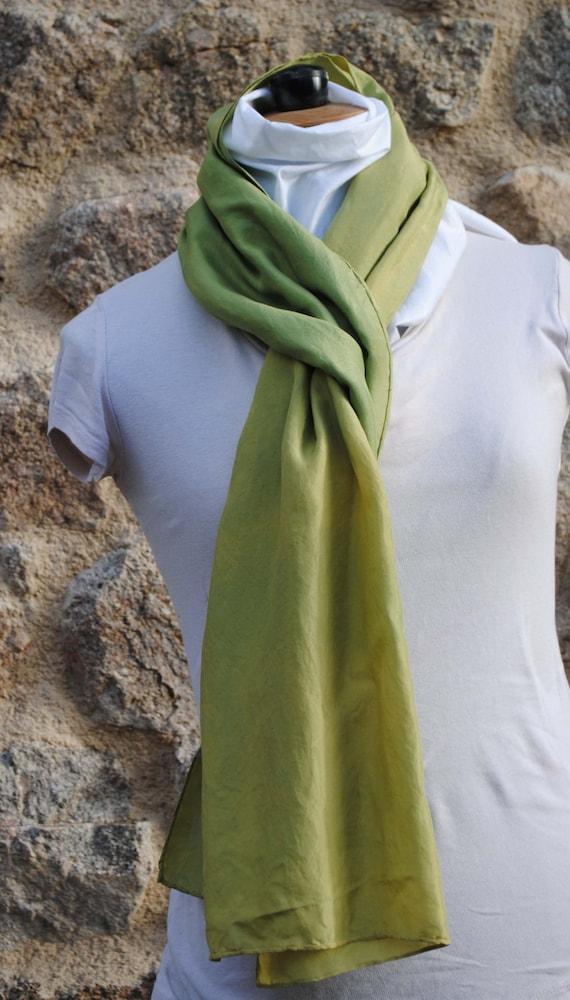 In vegetable dye silk scarf