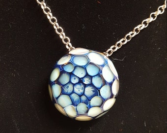 Glass Honeycomb Pendant Necklace