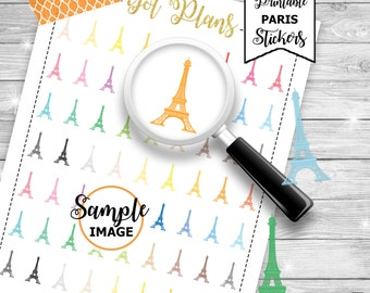 Eiffel Tower Stickers, Printable Stickers, Paris Stickers, Eiffel Tower Planner Stickers, Printable Planner Stickers