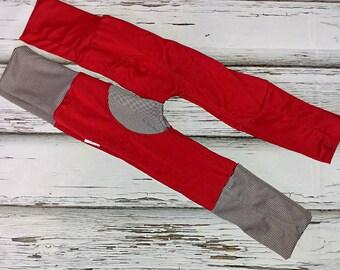 Evolutive pants red plain 36months 6