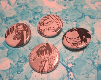 Shaman King Upcycled Pin Set 3, Shaman King Pins, Shaman King Shonen Jump Pin Set