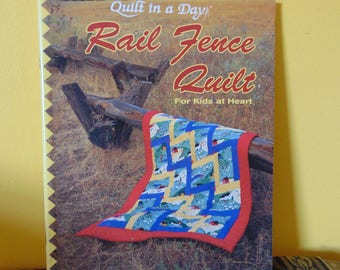 Rail Fence Quilt 1993 / Quilt in a Day /  LuAnn Stout