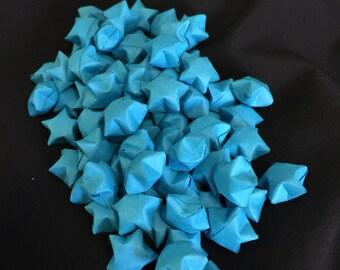 75 Teal Paper Stars