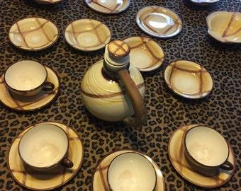 Organdie by Vernon Kilns/Vernonware Tea Set