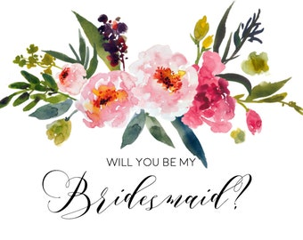 Full Set Watercolor Floral Wedding Party Invitations