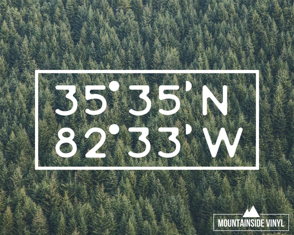 City Coordinates Vinyl Decal Personalized Vinyl Sticker - Vinyl stickers for glass cape town