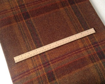 Tobacco Plaid, Felted Wool for Rug Hooking, Wool Applique and Crafts