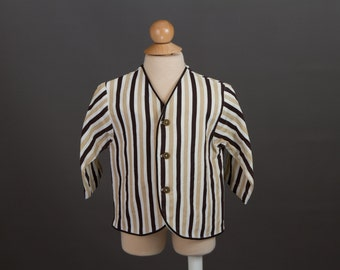 vintage 1960s toddler boy's striped blazer