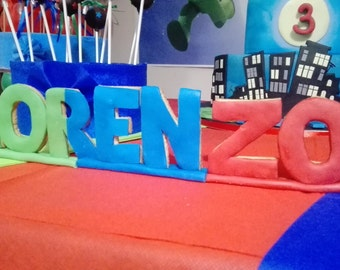 Letters or numerals in Fimo for the preparation of sweet table. Colors of your choice