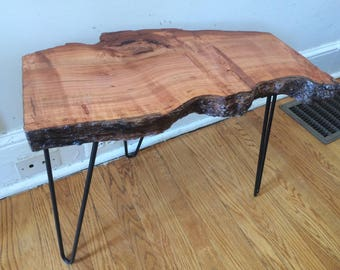 Live Edge Cherry Burl Accent Table