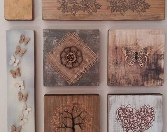 Natural collage,wall plaque ,nature art