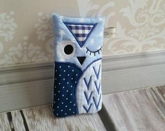 OWL mobile sleeve light blue star