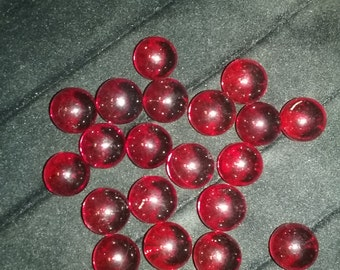 "20 - 9/16"" Ruby Red Transparent glass marbles"