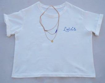 Personalised organic cotton oversized T-shirt