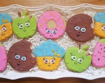 12 Shopkins Cookies Party Favors
