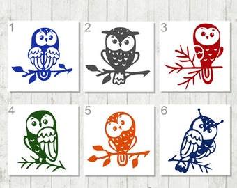 Owl Decal - Owl Car Decal - Owl Laptop Decal - Owl Tumbler Decal - Owl Yeti Decal - Bird Lover Decal - Owl Sticker - Owl Lover Gift - Owl