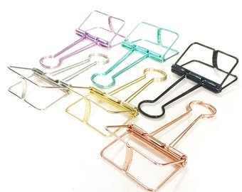 10 Binder Clips (19mm), 8 Binder Clips (32mm), 3 Binder Clips (51mm) // Gold // Rose Gold // Silver // Green // Purple // Black // Craft