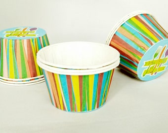 High Quality Pleated Multi Colour Stripes Baking Cups Cupcake Cases Muffin Cups