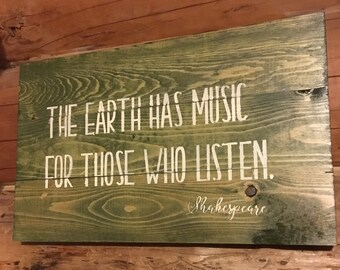 EARTH MUSIC * SHAKESPEARE quote